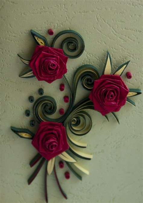 neli quilling art quilling small cards roses