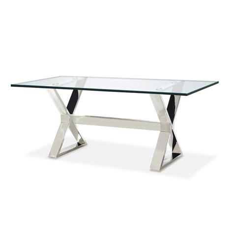 bureau table verre table verre et inox
