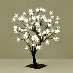 Small Fiber Optic Christmas Tree Uk by Modern Warm White Led Bonsai Tree With 72 Led Fairy Twig