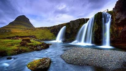 Waterfall Waterfalls Scenery Mountain Nature Desktop River