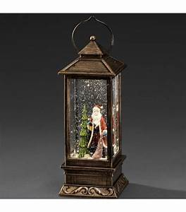 Lanterne De Noel : boule neige no l lanterne neige led avec p re no l 27 cm ~ Teatrodelosmanantiales.com Idées de Décoration