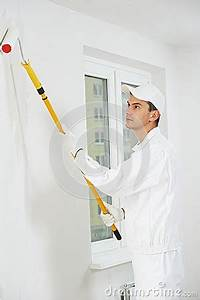 House Painter At Work Stock Photo - Image: 51642718