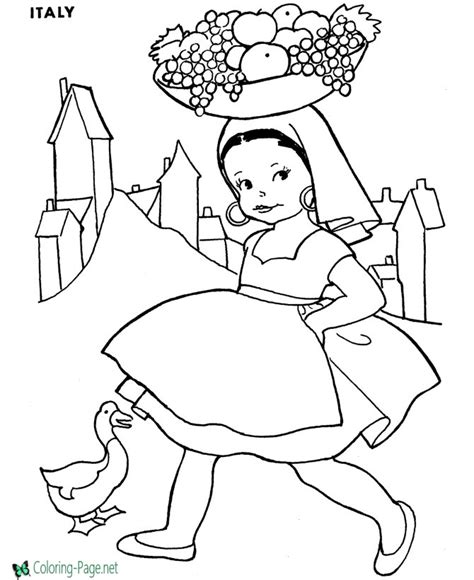 Coloring Italy by Princess Coloring Pages Italy