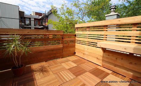 idee de patio en bois terrasse sur le toit boivin patios et cl 244 tures beaulieu