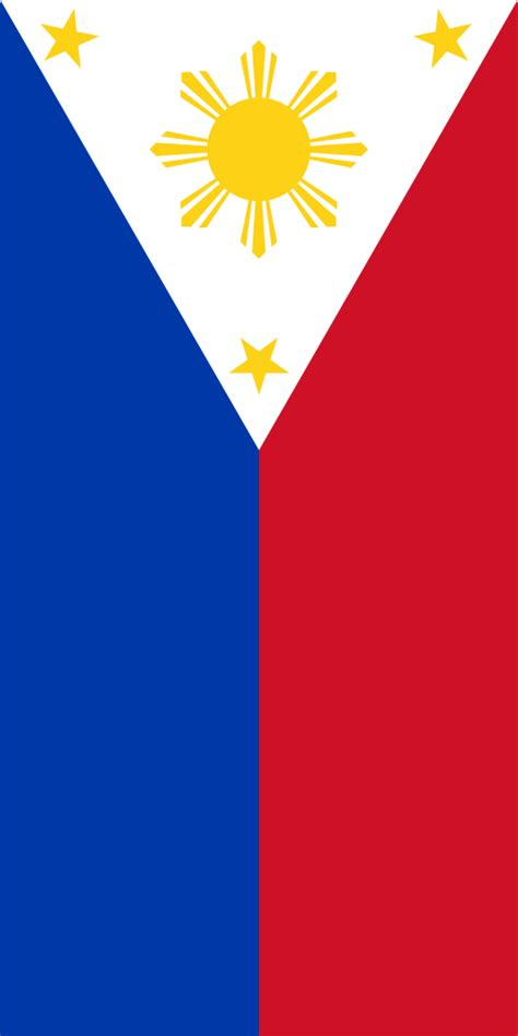Fileflag Of The Philippines (vertical Display)svg