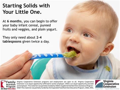 Starting Solid Foods With Your Baby Eat Smart Move More
