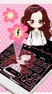 Pink, Pretty, Girl, Keyboard, Theme