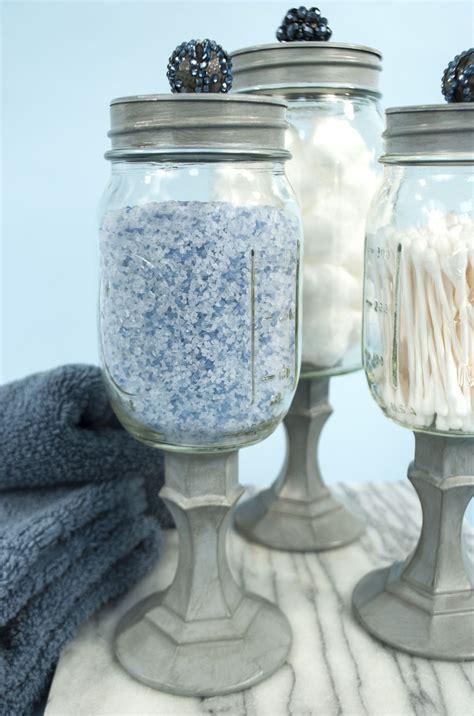 mason jar storage idea   bathroom pinning