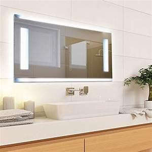 Badspiegel Mit Rahmen : krollmann badspiegel mit beleuchtung modern ohne rahmen mit touch sensor beleuchtet mit ~ Frokenaadalensverden.com Haus und Dekorationen