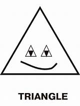 Coloring Triangles Triangle Printable Educational Template Toddlers Recommended Templates Preschoolers sketch template