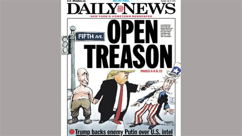 Ny Daily News Cover Following Helsinki Summit Shows Trump Shooting Uncle Sam Thehill