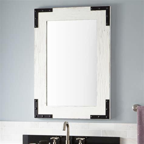 bonner reclaimed wood vanity mirror whitewash pine