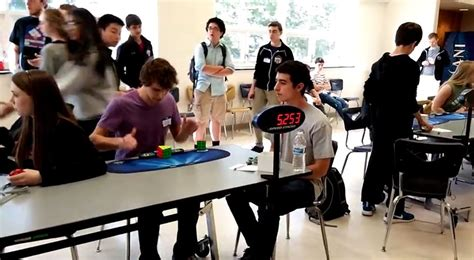 Collin Burns In 5.253 Seconds Sets Rubik's Cube Time