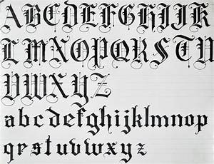 Old English Calligraphy Alphabet | Black Letters using ...