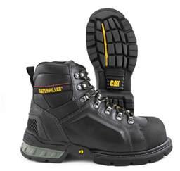 cat work boots cat caterpillar excavator tough black steel toe work