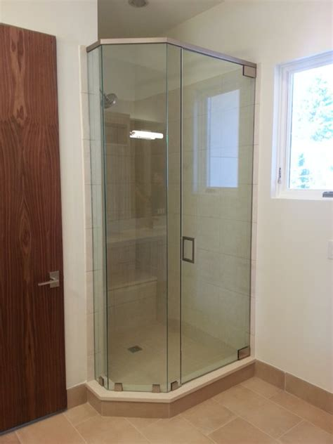 frameless bathroom mirrors denver frameless shower doors contemporary bathroom denver