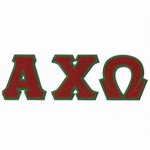 Alpha chi omega sewn on greek letter t shirt alpha chi for Sorority sewn on letters