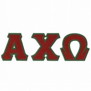 alpha chi omega sewn on greek letter t shirt alpha chi With alpha chi omega stitched letters