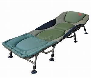 Lit De Camping : p che la carpe lit fauteuil chaise lit camping r sistant 8 r glable pieds ebay ~ Teatrodelosmanantiales.com Idées de Décoration