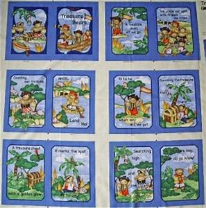 Childrens Kids Baby Fabric Quilting Sewing Book Panel ...
