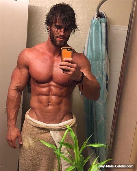 australian bodybuilder calum von moger showing off his huge cock gay male