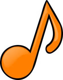 Orange Music Notes Clip Art