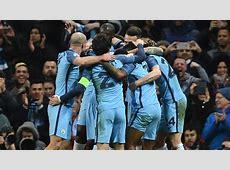 Manchester City celebrate vs Monaco Goalcom