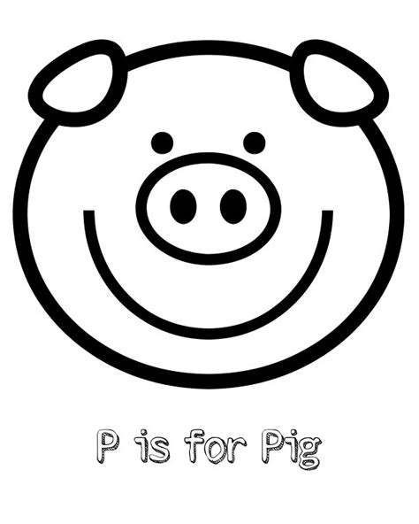 printable p   pig coloring page mama likes