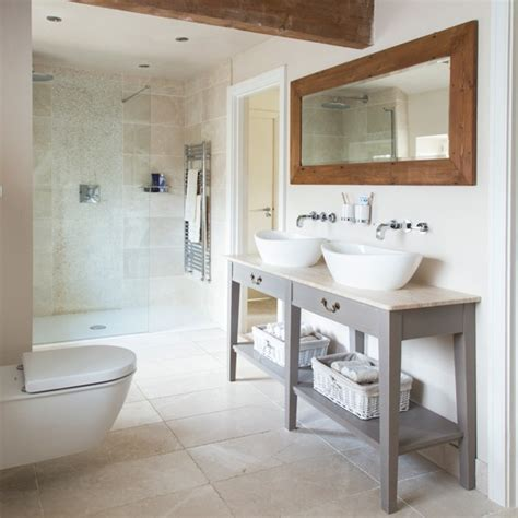 Nice Countrytouches In Modern Bathroom And Kitchen