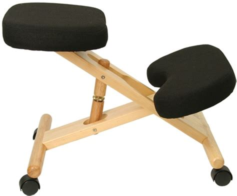 wooden ergonomic kneeling posture office chair by flash