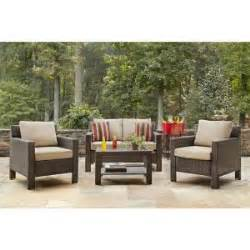 Hton Bay Patio Furniture Cushions Home Depot by Hton Bay Beverly 4 Patio Seating Set With