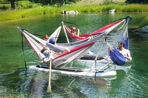 Boat Tower Hammock by This Hammock Boat Lets You Relax In Up To 4 Hammocks While