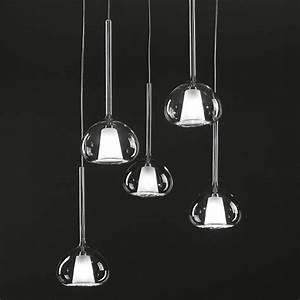 Lampe 5 Flammig : beba italienische 5er glas pendellampe kaskade ~ Lateststills.com Haus und Dekorationen