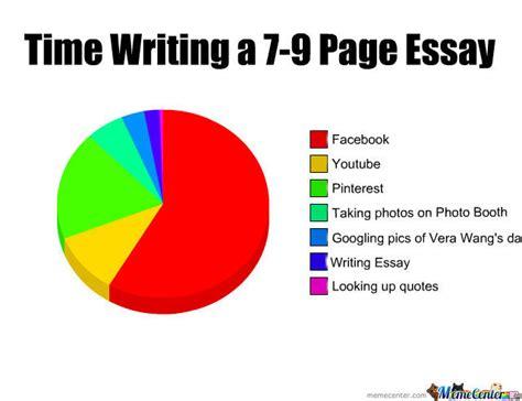 Essay Memes - time writing a 7 9 page essay by ceuzarraga1 meme center