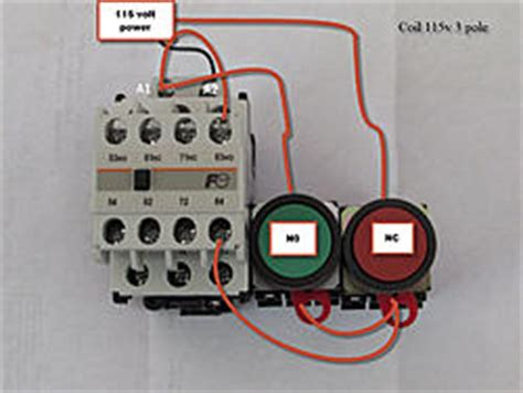 magnetic starter contactor to start and stop cnc