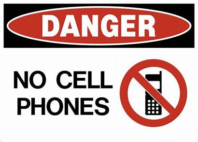 Cell Phones Danger Phone Sign Safety Telephone