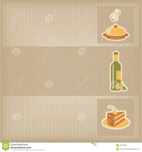 food menu template stock image image