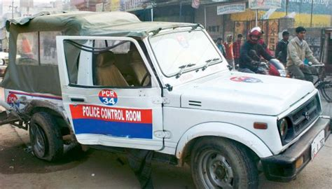 indian police jeep crippled a third of delhi police pcr fleet of 650 is
