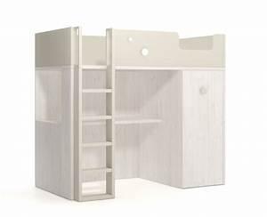 Lit Mezzanine Ado : lit mezzanine avec bureau et armoire ~ Teatrodelosmanantiales.com Idées de Décoration