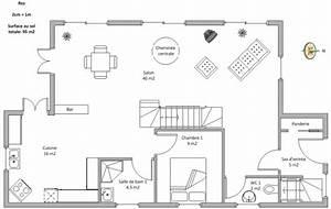 avis plan maison 2 etages environ 100m2 par etage 23 With plan maison 100m2 2 etages