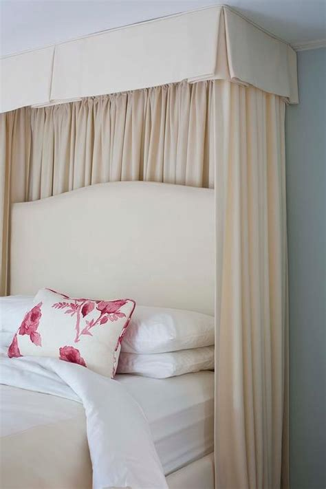 valance and curtains bed transitional bedroom
