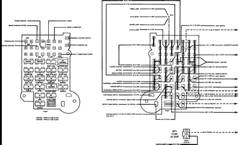 1992 Chevy Suburban Fuse Box Diagram by 1992 Chevrolet G20 Fuse Wiring Diagram And Fuse Box