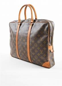 louis vuitton coated canvas porte documents voyage bag With louis vuitton document bag