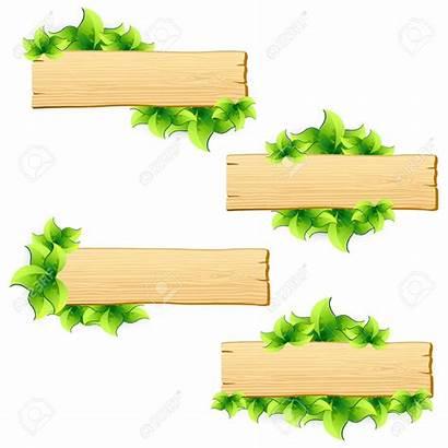 Board Clipart Wooden Signboard Legno Leaf Clipground