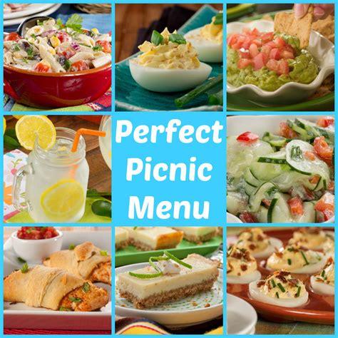 what food for a picnic perfect picnic menu 53 make ahead picnic recipes mrfood com