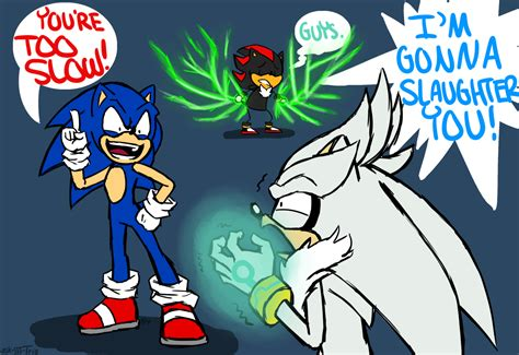 Ask Sonic Shadow And Silver • Sonicshadow Hahahha Youre Too Slow