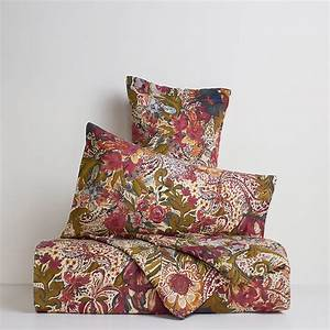 Washed effect undergrowth duvet cover in 100% linen coincasa