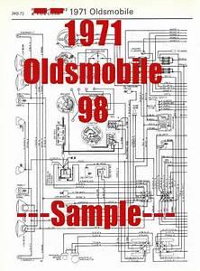 1971 Oldsmobile 98 Full Car Wiring Diagram  High Quality