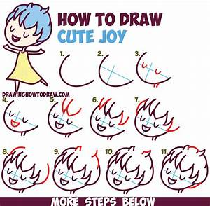 How to Draw Cute Kawaii / Chibi Joy from Inside Out - Easy ...