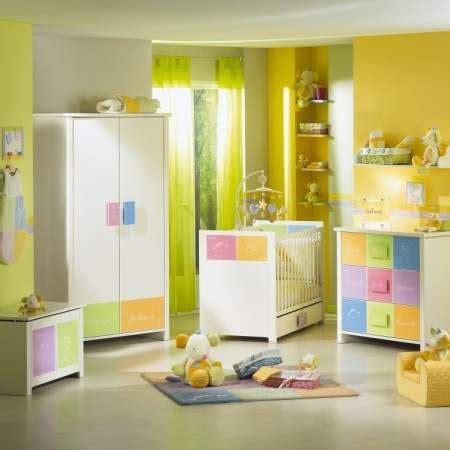 modele chambre bebe modèle ambiance chambre bébé jaune